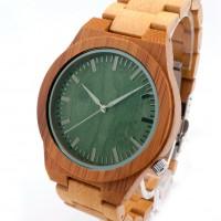 Bobobird bamboo 2035 quartz sports watch