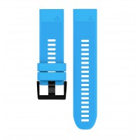Soft Silicone Replacement Watch Band Strap for Garmin Fenix 5X Blue