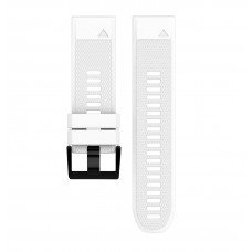Soft Silicone Replacement Watch Band Strap for Garmin Fenix 5X White