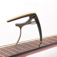 Longteam Acoustic Guitar Capo Guitar Part Accessories Instrument  Champagne gold_Guitar & Ukulele Universal