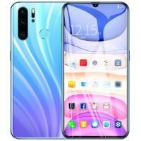 6.3 inch High-definition Screen P40 PRO Face Recognition Fingerprint 4G Smartphone International Version Gradient white-EU Plug