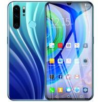 6.3 inch High-definition Screen P40 PRO Face Recognition Fingerprint 4G Smartphone International Version Gradient blue-EU Plug