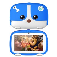 7inch Cartoon Puppy Tablet PC Android 4.4 1GB+8GB WiFi Dual Cameras LED Backlight Kid Laptop EU Plug blue_1GB+8GB