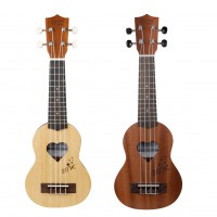 17inch Couple Ukulele Mini Guitar Sapele Spruce Instrument+Cotton Bags for Ukelele Loveres Musical Instruments Set Couple models