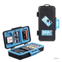 D950 Camera Battery Box Shockprrof Waterproof Case for Canon/Sony /Nikon Battery Case SD CF Memory Card Storage blue
