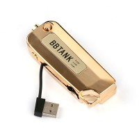 Glod BB Tank Flip Key Fob Battery 510 Thread with Built in USB Charger Gold