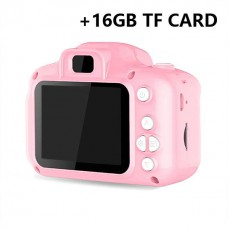 Children Mini Digital Camera Kids Educational Toys with 16GB Memory Card as Children Baby Gift Pink