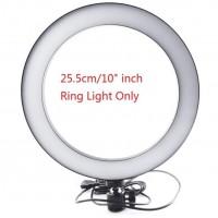 16/26cm Dimmable LED Studio Camera Ring Light Phone Video Light Lamp Selfie Stick Ring Table Fill Light Single lamp 26CM