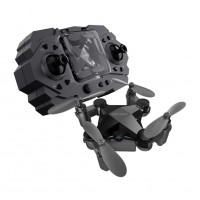 Folding Mini Drone Toy Black Standard