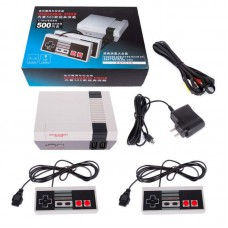 Classic Retro Children`s Game Console Professional System with 2 Controllers Built-in 500 TV Video Game British regulations