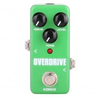 KOKKO FOD3 Mini Overdrive Electric Guitar Effect Pedal Portable True Bypass Aluminium Body Tube Overload Guitar Stompbox FOD-3 green