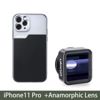 17mm Thread Phone Case for iPhone 11/11 Pro/11 Pro Max Anamorphic Lens Protect Smartphone Shakeproof Solid Cover For iPhone 11 Pro case+Anamorphic Lens