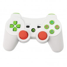 Wireless Bluetooth Game Controller with Six Axis and Vibration for Sony PS3 white