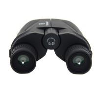 12X25 Mini Folding Binoculars BAK4 HD Wide Angle Prism Telescope Hiking Hunting black