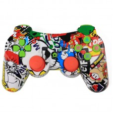 Wireless Bluetooth Game Controller with Six Axis and Vibration for Sony PS3 Colorful
