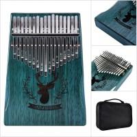 17 Keys Thumb Piano Finger Reindeer Blue